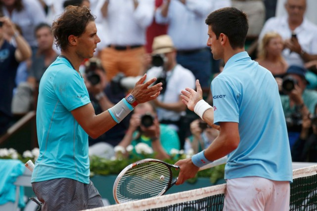 Rafael Nadal et Novak Djokovic... (Photo Vincent Kessler, archives Reuters)
