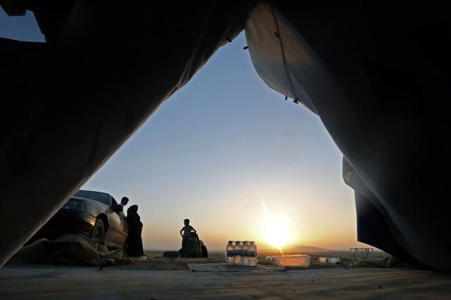 Le complexe envahi avait commencé à produire du... (Photo KARIM SAHIB, Archives AFP)