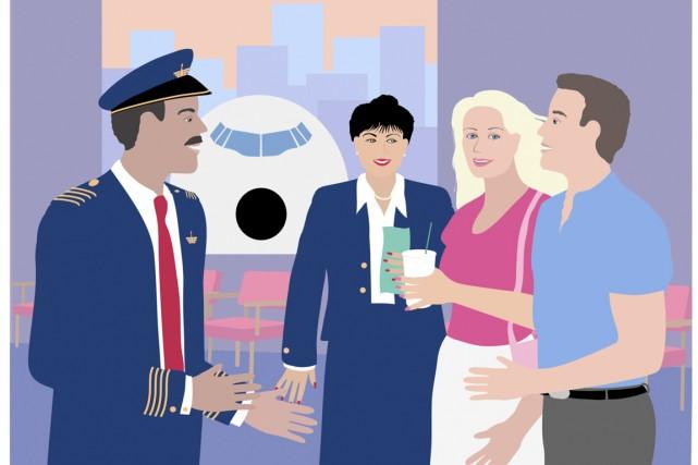 Le pilote d'une compagnie aérienne américaine a offert à ses 160 passagers une... (Illustration Thinstock)