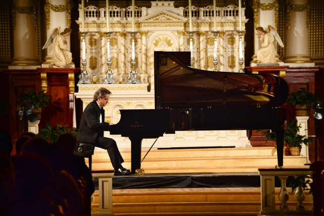 Alain Lefèvre hier soir à l'église de L'Assomption,... (Photo: Christina Alonso, fournie par le Festival de Lanaudière)