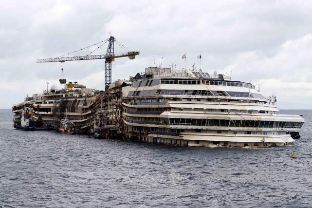 LeConcordiaavait fait naufrage le 13 janvier 2012 après... (Photo Alessandro Bianchi, Reuters)