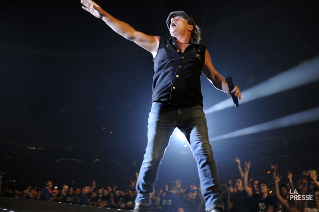 Brian Johnson... (Photo: Bernard Brault, archives La Presse)