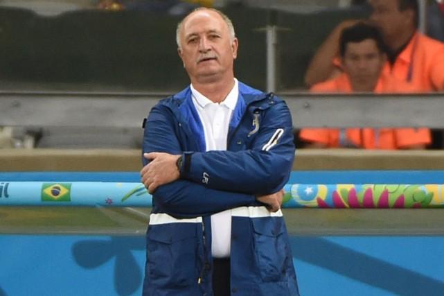 Le sélectionneur du Brésil, Luiz Felipe Scolari.... (Photo Pedro Ugarte, AFP)