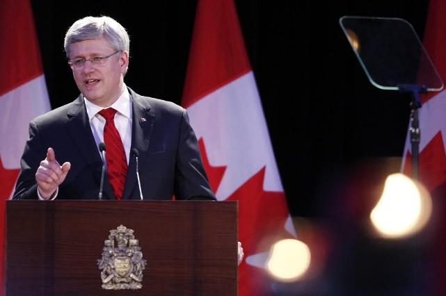 Stephen Harper... (Photo AARON HARRIS, Reuters)