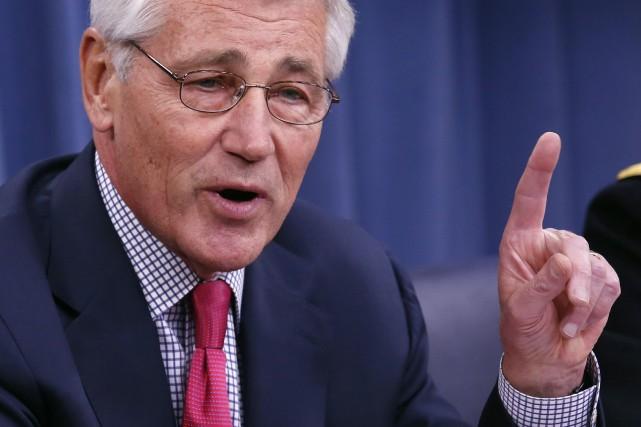 Chuck Hagel,secrétaire américain à la Défense... (PHOTO YURI GRIPAS, REUTERS)