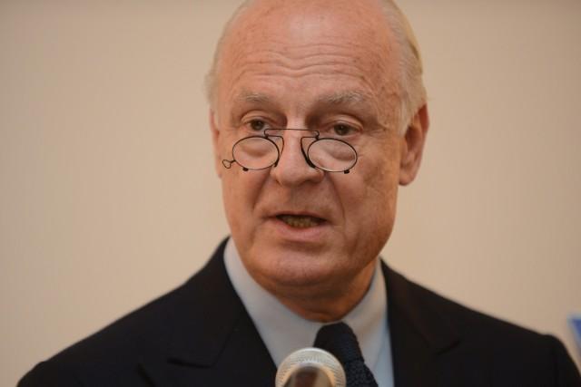 Le diplomate italo-suédois Staffan de Mistura va succéder... (Photo Staffan de Mistura, AFP)