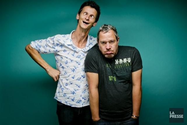 Patrik Cottet-Moine et son mentor, Michel Courtemanche.... (Photo: Marco Campanozzi, La Presse)