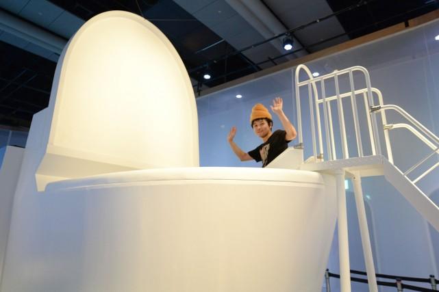 Les enfants peuvent descendre en toboggan à l'intérieur... (Photo Toru Yamanaka, AFP)