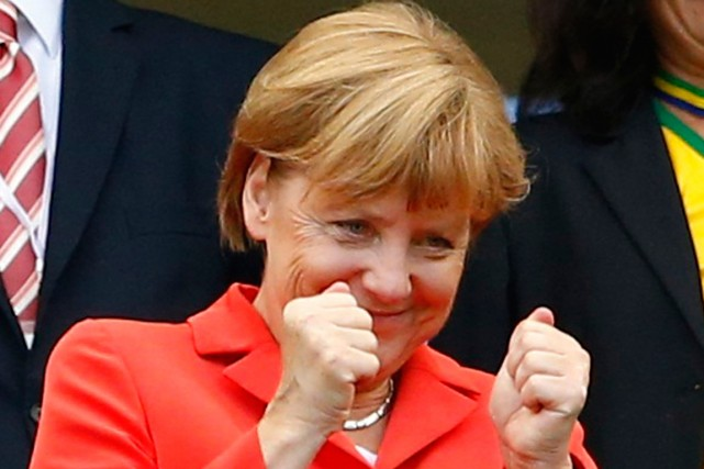 La chancelière allemande Angela Merkel.... (Photo Darren Staples, archives Reuters)