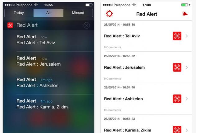 Grâce à l'application mobileRed Alert,les abonnés peuvent maintenant être... (Photo App Store)
