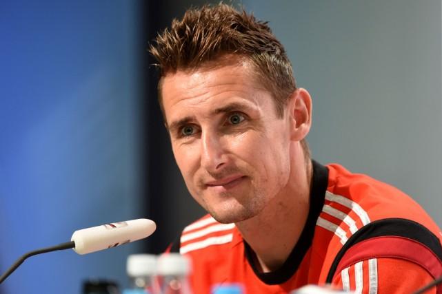 L'attaquant allemand Miroslav Klose.... (Photo Patrik Stollarz, AFP)