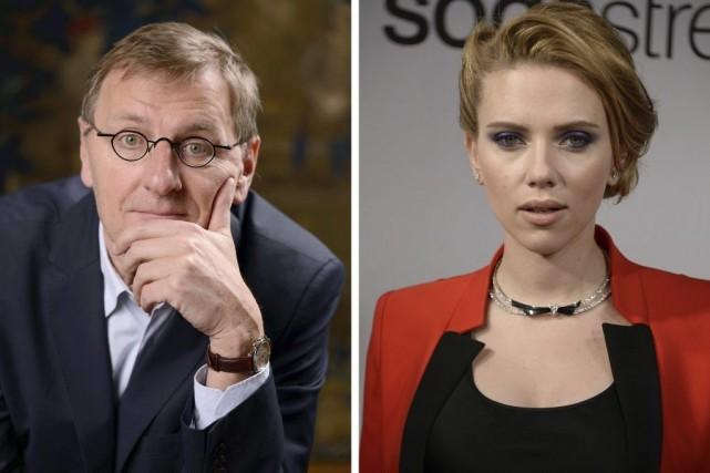 Grégoire Delacourt et Scarlett Johansson... (Photo: AFP)