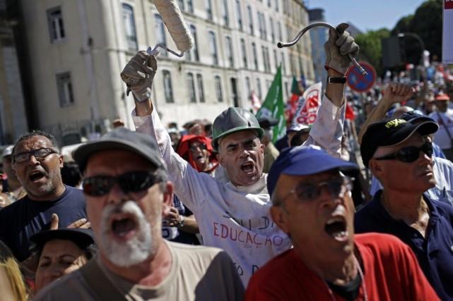 Selon la confédération syndicale qui était à l'origine... (Photo Francisco Seco, AP)