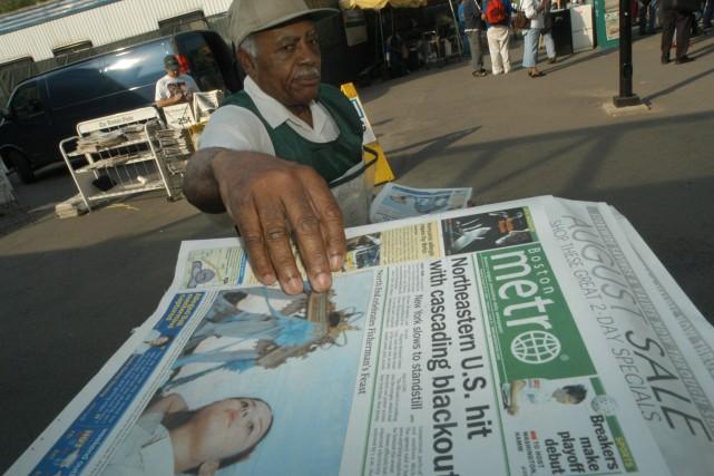 Les entreprises du secteur des médias sont aux... (Photo ANGELA ROWLINGS, Archives AP)