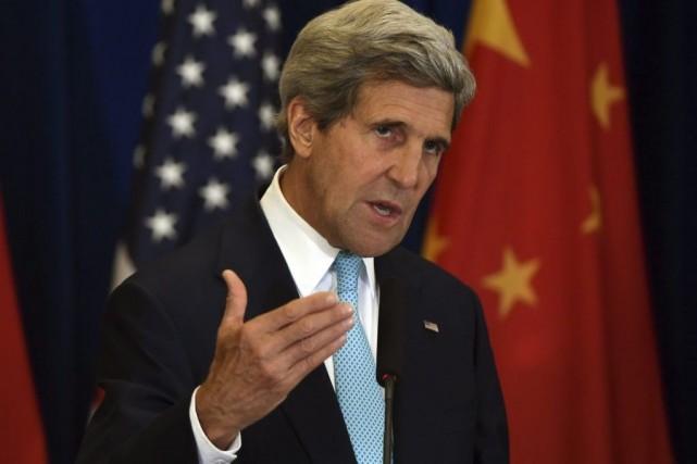 De Pékin où il se trouvait plus tôt... (Photo Greg Baker, AP)