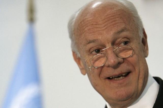 Staffan de Mistura sera «envoyé spécial» de l'ONU... (Photo Thaier Al-Sudani, Reuters)