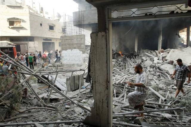 Depuis le début de l'offensive israélienne mardi, plus... (Photo Reuters)