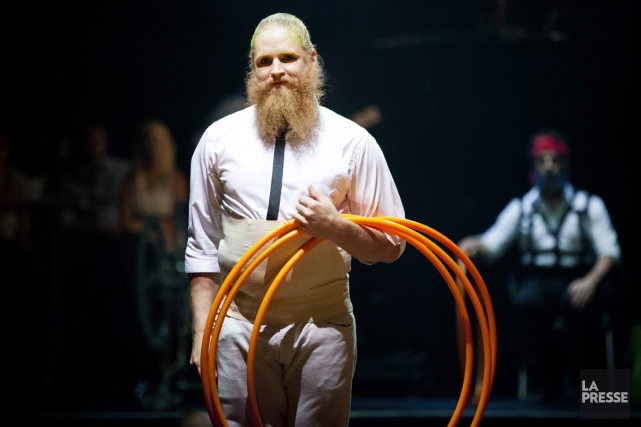 Le spectacle Barbu: foire électro-trad du Cirque Alfonse... (Photo: Sarah Mongeau-Birkett, La Presse)