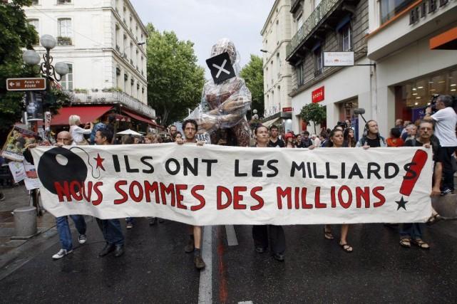 Le personnel du festival d'Avignon a voté samedi en faveur de la grève, à... (Photo: AP)