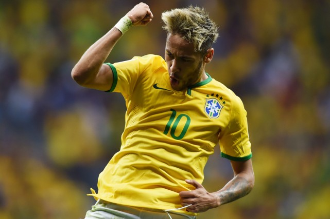 Neymar... (Photo Pedro Ugarte, AFP)