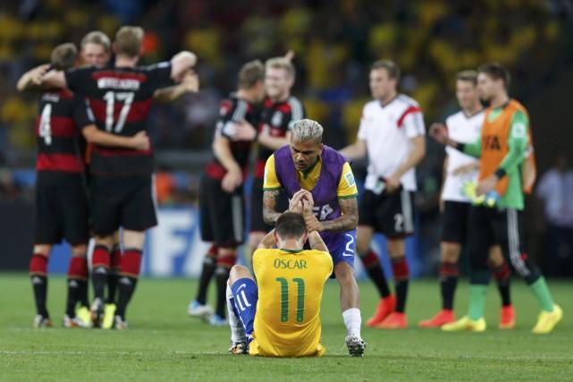 La victoire écrasante des Allemands face à l'équipe... (Photo Marcos Brindicci, Reuters)