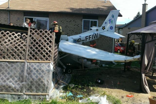 La jeune pilote a été légèrement blessée dans... (Photo courtoisie)