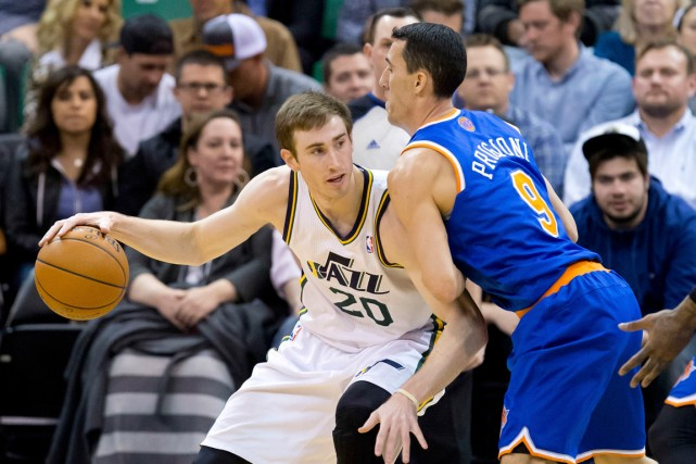 Gordon Hayward (20) a marqué plus de 20 points... (PHOTO ARCHIVES USA TODAY)