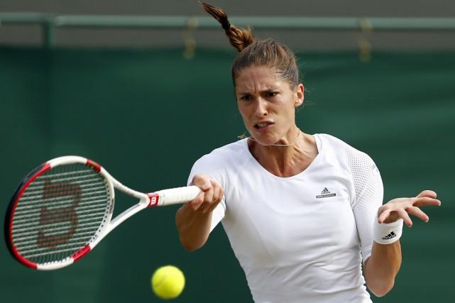 Andrea Petkovic a remportéson 4e titre en simple,... (PHOTO ANDREW COWIE, ARCHIVES AFP)