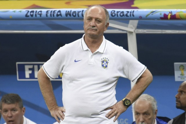 Luiz Felipe Scolariavait mené la Seleçao à la... (PHOTO FABRICE COFFRINI, AFP)