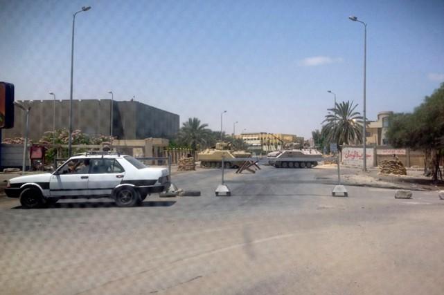 Un point de contrôle à El-Arish.... (PHOTO ARCHIVES REUTERS)
