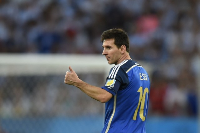 Lionel Messi, capitaine de l'équipe d'Argentine... (Photo FABRICE COFFRINI, AFP)
