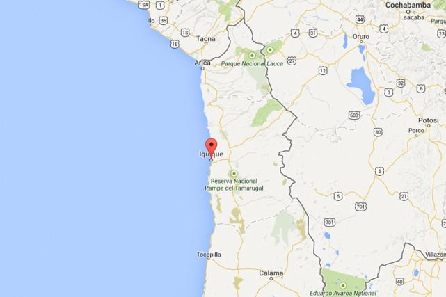 L'épicentre du tremblement de terre était situé à... (PHOTO TIRÉE DE GOOGLE MAPS)
