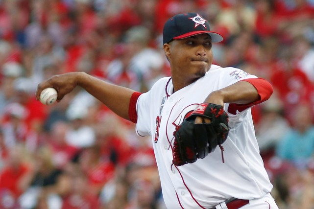 Alfredo Simon, des Reds de Cincinnati... (Photo David Kohl, archives USA TODAY Sports)