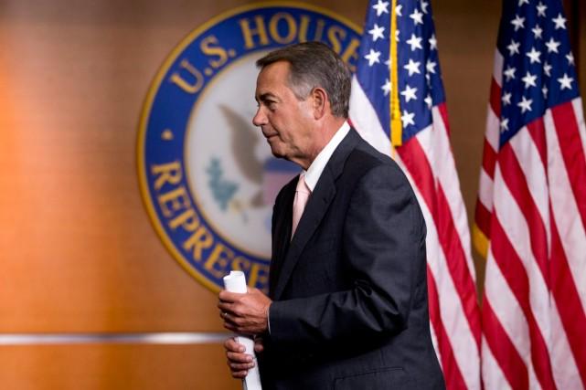 John Boehner, président républicain de la Chambre des... (Photo Manuel Balce Ceneta, Agence France-Presse)