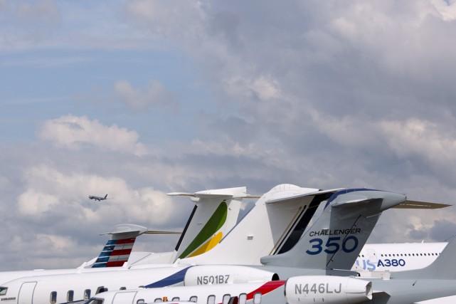 Le salon aéronautique de Farnborough, dans le sud... (Photo Kieran Doherty, Reuters)