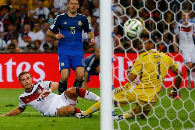 Mario Götze a marqué le but vainqueur en... (Photo Kai Pfaffenbach, Reuters)