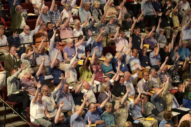 Les délégués réunis à York (nord de l'Angleterre)... (PHOTO NIGEL RODDIS, AFP)