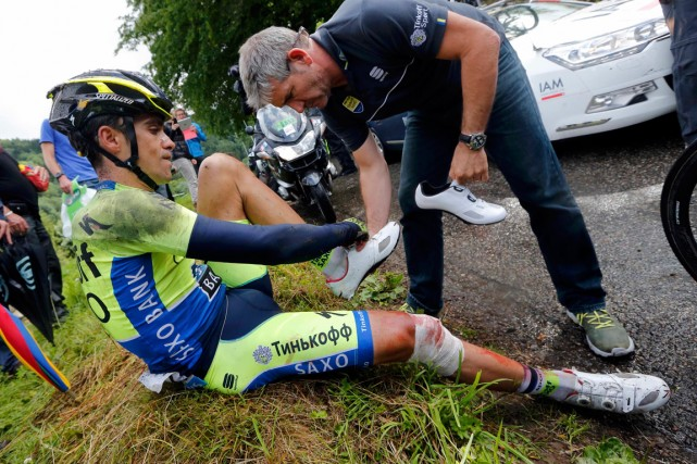 Le double vainqueur du Tour de France Alberto... (Photo Jean-Paul Pelissier, Reuters)