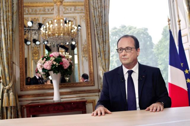 Le président François Hollande à l'Élysée, le 14... (PHOTO THIBAULT CAMUS, AFP)