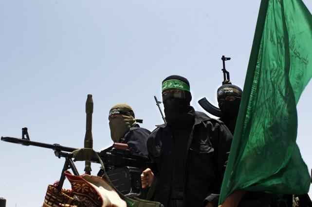 Les Brigades Ezzedine al-Qassam, branche armée du Hamas,... (PHOTO SAID KHATIB, ARCHIVES AFP)