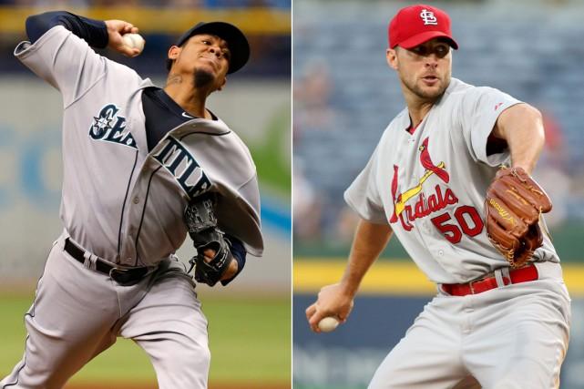Les lanceurs Felix Hernandez, des Mariners de Seattle,... (Photos AP)
