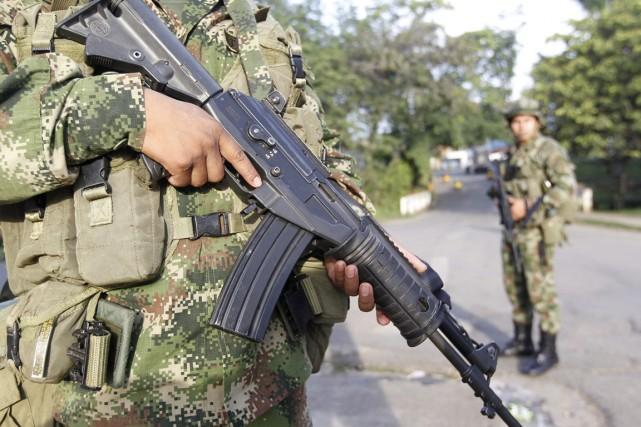 Ces dernières opérations «démontrent que les Forces armées... (PHOTO JAIME SALDARRIAGA, ARCHIVES REUTERS)