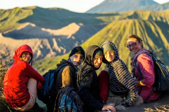 La famille Brillon-Sardi en expédition matinale pour observer... (PHOTO TIRÉE DU BLOGUE DE LA FAMILLE BRILLON-SARDI)