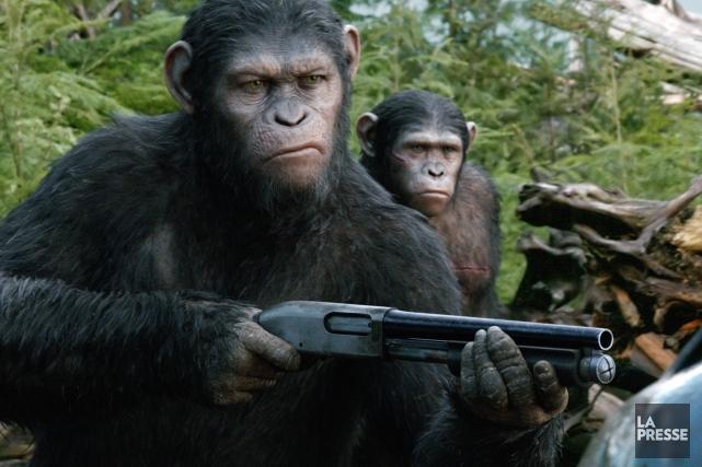La saga deLa Planète des singes, inspirée du... (Photo Twentieth Century Fox Film Corpo, AP)