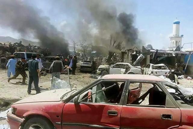 Un marché de la province afghane de Paktika... (PHOTO AFP/PAJHWORK NEWS AGENCY)