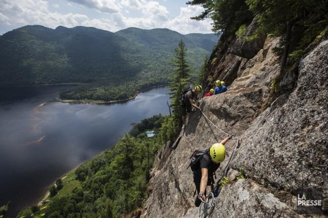 La via ferrata du parc national du Fjord-du-Saguenay... (Archives La Presse)