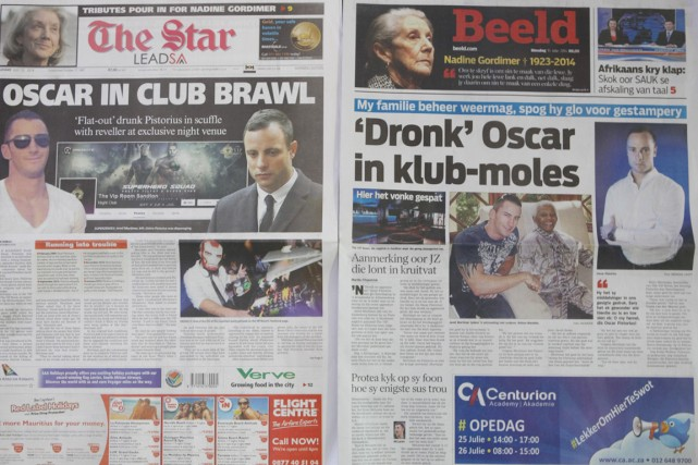 Selon leStar, Pistorius se trouvait dans la section... (PHOTO DENIS FARRELL, AP)