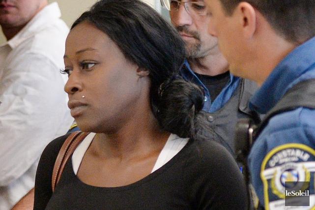 Marilyne Potvin a été arrêtée pour une première... (Photothèque Le Soleil, Pascal Ratthé)