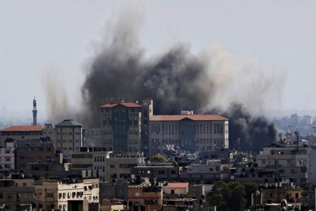 Deux Palestiniens ont été tués mardi après-midi dans la bande de Gaza, où les... (Photo AP)