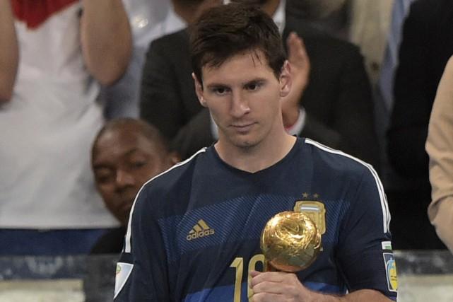 Le Ballon d'Or du Mondial attribué à Lionel... (Photo Juan Mabromata, AFP)